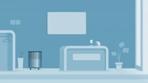 UVC Air Sterilizer in reception area